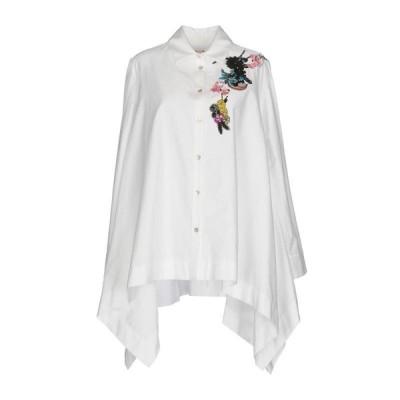 ANTONIO MARRAS 無地シャツ&ブラウス  レディースファッション  トップス  シャツ、ブラウス  長袖 ホワイト
