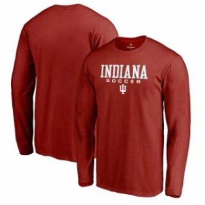 Fanatics Branded ファナティクス ブランド スポーツ用品  Fanatics Branded Indiana Hoosiers Crimson True Sport Soccer Long Sleeve T
