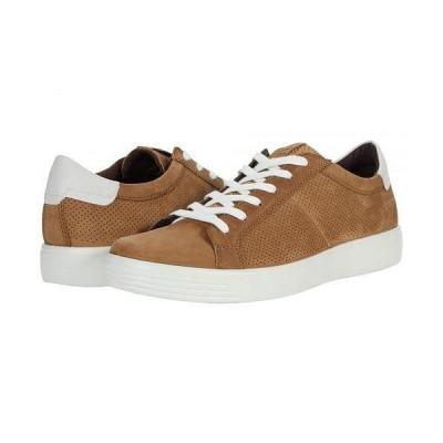 ECCO エコー メンズ 男性用 シューズ 靴 スニーカー 運動靴 Soft Classic Summer Sneaker - Camel Cow Nubuck/White Cow Nappa