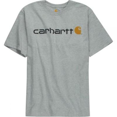 カーハート Carhartt メンズ Tシャツ トップス Signature Logo Short - Sleeve T - Shirt Heather Gray