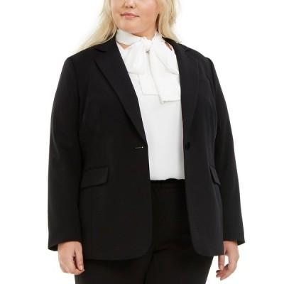 バースリー ジャケット&ブルゾン アウター レディース Trendy Plus Size One-Button Blazer,  Black