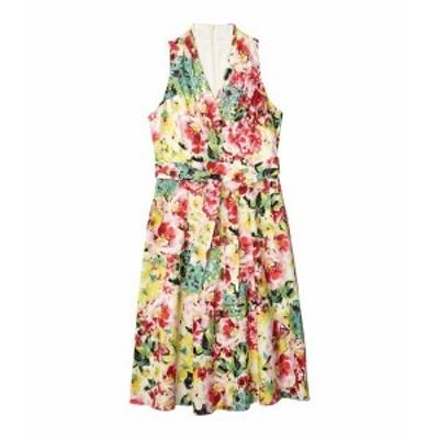 ロンドンタイムス レディース ワンピース トップス Halter Wrap Bodice Dress Multi