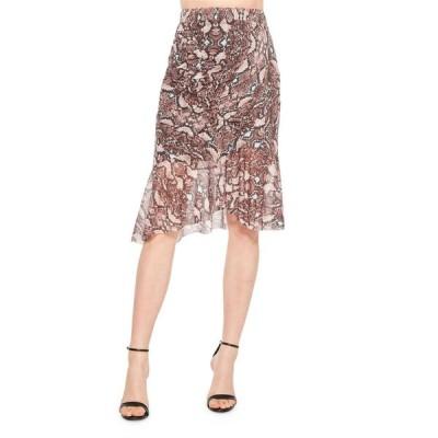 パーカー レディース スカート ボトムス Saffron Python-Print Skirt