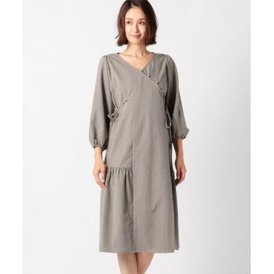【ミューズ リファインド クローズ】 ウォッシャブルカシュクールワンピース レディース ブラウン M MEW'S REFINED CLOTHES