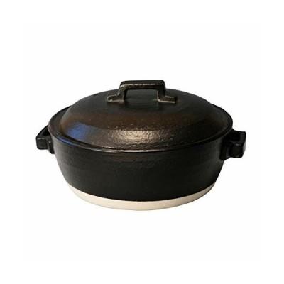 マルヨシ陶器 STYLE 土鍋 BLACK IH 7号 M0228 黒 1.5l 土鍋 IH対応 7号 おしゃれ M0228