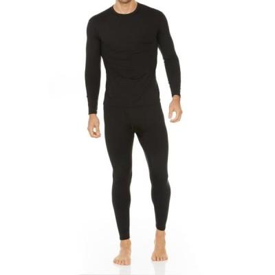 メンズ 衣類  Thermajohn Men's Ultra Soft Thermal Underwear Long Johns Sets with Fleece Lined (Black XS)