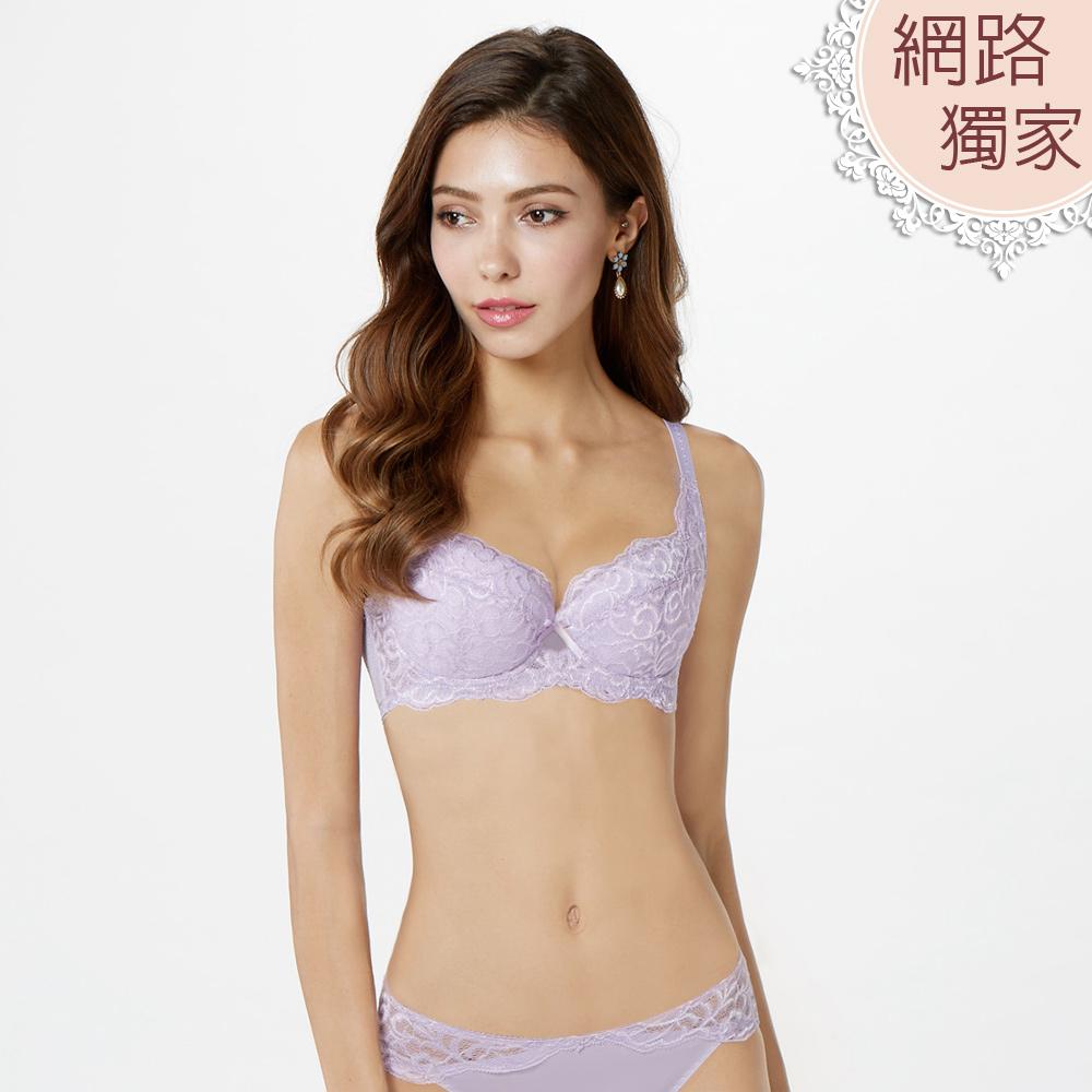 【曼黛瑪璉】包覆提托經典內衣 B-E罩杯(薰草紫)