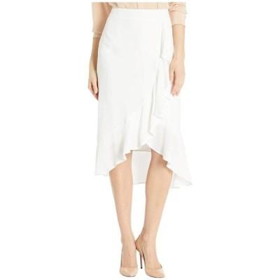 カップケーキアンドカシミア レディース スカート ボトムス Roxanne Natural Waist Viscose Slub Skirt w/ Ruffle Detail