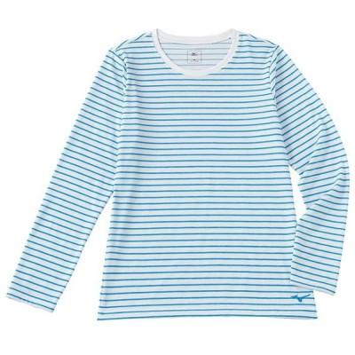 ミズノ(Mizuno) A2JA6341 24 レディース ボーダー長袖クルーネックシャツ レディースファッション 長袖Tシャツ