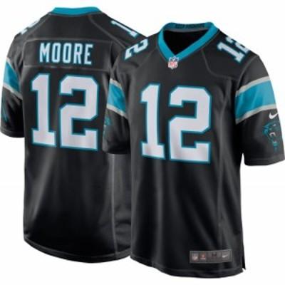 ナイキ Nike メンズ トップス Carolina Panthers D.J. Moore #12 Home Black Game Jersey