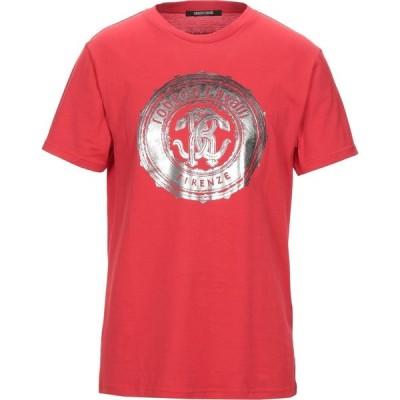 ロベルト カヴァリ ROBERTO CAVALLI メンズ Tシャツ トップス T-Shirt Red
