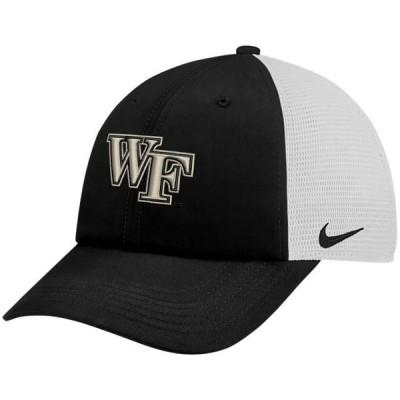ユニセックス スポーツリーグ アメリカ大学スポーツ Wake Forest Demon Deacons Nike Trucker Adjustable Performance Hat - Black/Whi