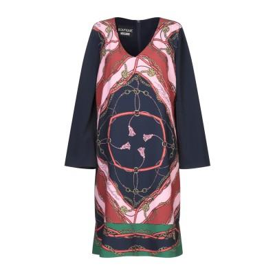 BOUTIQUE MOSCHINO ミニワンピース&ドレス ダークブルー 40 ポリエステル 92% / ポリウレタン 8% ミニワンピース&ドレス