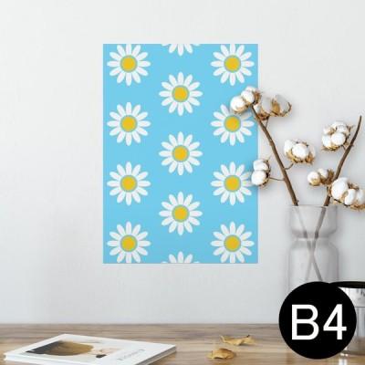 ポスター ウォールステッカー シール式 257×364mm B4 写真 壁 インテリア おしゃれ wall sticker poster フラワー 花 青 009843