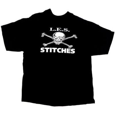 L.E.S. STITCHES SKULL&CROSSBONE オフィシャルTシャツ DEADSTOCK デッドストック 【US パンク ロック THE RADICTS バンT バンドT ミュージックTEE】