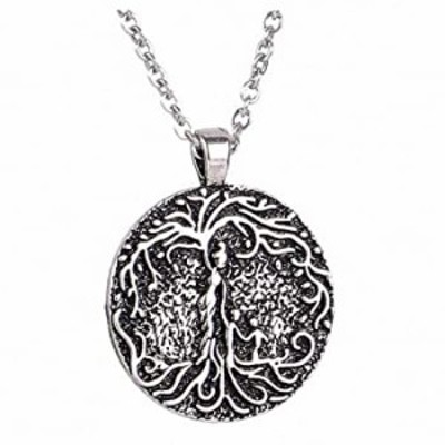 Xileg Womens Pendant Necklace Necklace Mom Several Children Necklace Family Tree of Life Necklace Disc Pendant Mom Kid Women Mot