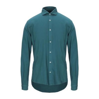 LIU •JO MAN シャツ ディープジェード 38 コットン 100% シャツ