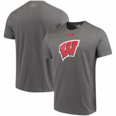 Under Armour アンダー アーマー スポーツ用品  Under Armour Wisconsin Badgers Charcoal School Logo Charged Cotton Pe