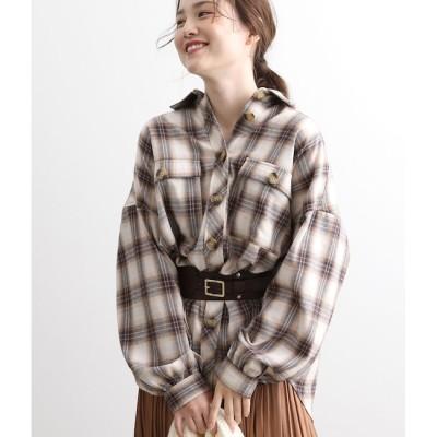 【ビス/ViS】 オーバーサイズチェックシャツ
