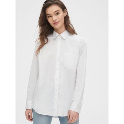 シャツ ブラウス ポプリンビッグシャツ