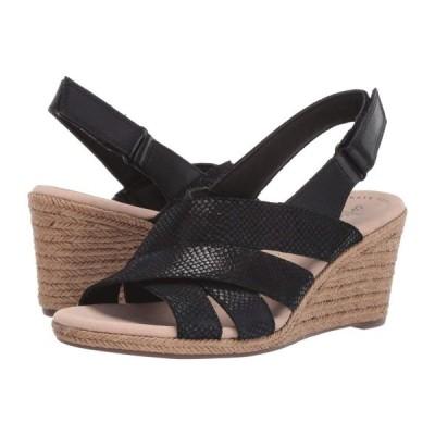 クラークス Clarks レディース サンダル・ミュール シューズ・靴 Lafley Krissy Black Suede/Leather Combi