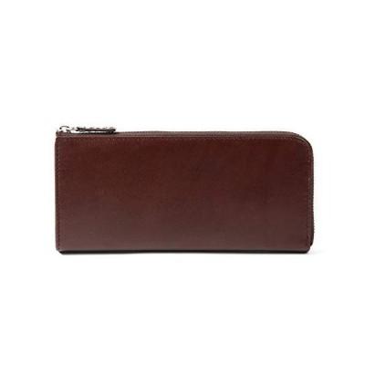 MURA 長財布 本革 レディース 薄型 財布 ファスナー RFID スキミング防止 (ダークブラウン)