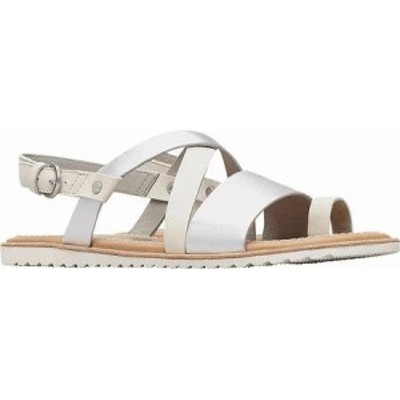 Sorel レディースサンダル Sorel Ella Criss Cross Slingback Sandal Sea Salt