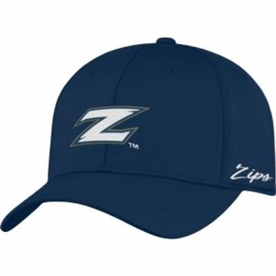 トップオブザワールド Top of the World メンズ キャップ 帽子 Akron Zips Navy Phenom 1Fit Flex Hat