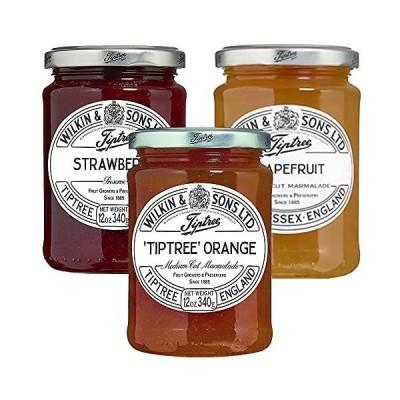 チップトリー オレンジママレード グレープフルーツ、ストロベリー 1本340g 3種セット ジャム イギリス