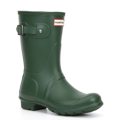 ハンター レディース ブーツ・レインブーツ シューズ Women's Original Short Matte Buckle Strap Rain Boots