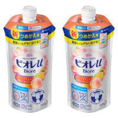 花王ビオレu スイートピーチの香り ボディウォッシュ 詰め替え 340ml 1セット(2個) 花王
