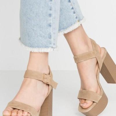 レディース サンダル LEATHER - High heeled sandals - sand