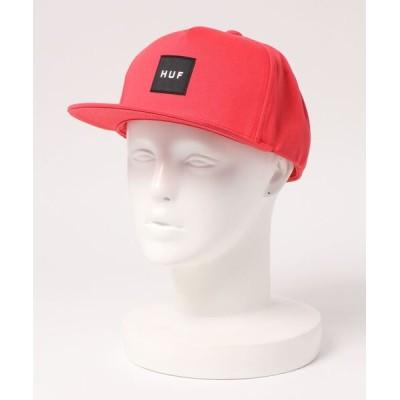 OVERRIDE / 【HUF】ESSENTIALS BOX SNAPBACK HAT / 【ハフ】エッセンシャル ボックス スナップバック オーバーライド MEN 帽子 > キャップ