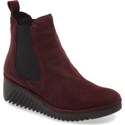 フライロンドン FLY LONDON レディース ブーツ チェルシーブーツ ウェッジソール シューズ・靴 Lita Wedge Chelsea Boot Wine Leather
