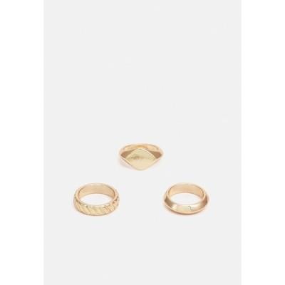 ピーシーズ リング レディース アクセサリー PCOLLA 3 PACK - Ring - gold-coloured