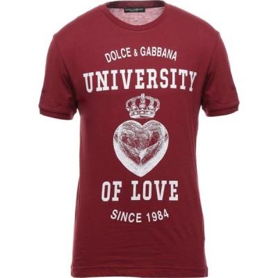 ドルチェ&ガッバーナ DOLCE & GABBANA メンズ Tシャツ トップス T-Shirt Brick red