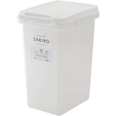 ゴミ箱/ダストボックス 45L ホワイト 幅34.1cm 日本製 ハンドル ふた付き 『リス SABIRO サビロ 連結ワンハンドペール』 生活用品 インテ