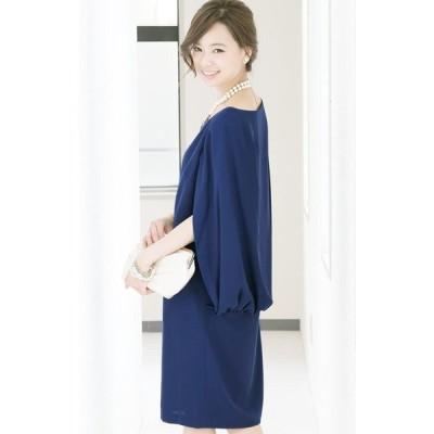 プールヴー パーティードレス ワンピース ドレス お呼ばれ 女子会 レディース ロイヤルブルー Mサイズ 9号