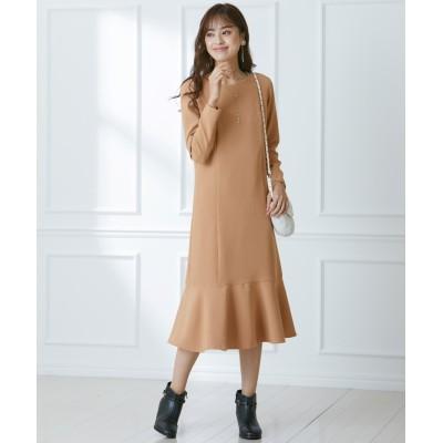 大きいサイズ フェミニンストーリー ミニマル裾フレアワンピース ,スマイルランド, ワンピース, plus size dress