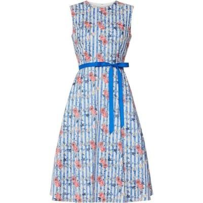 ジーナ バッコーニ Gina Bacconi レディース ワンピース ワンピース・ドレス Cardella Jacquard Dress Blue
