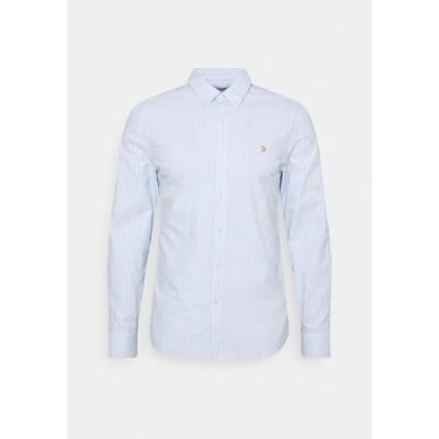 ファーラー シャツ メンズ トップス BREWER STRIPE - Shirt - sky blue