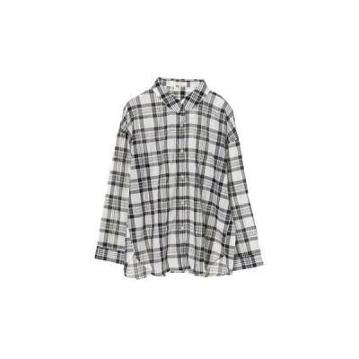 グリーンパークス Green Parks マドラスチェックシャツ (Black)