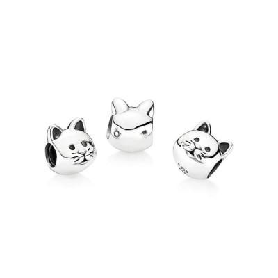Pandora Curious Cat Silver Charm 791706
