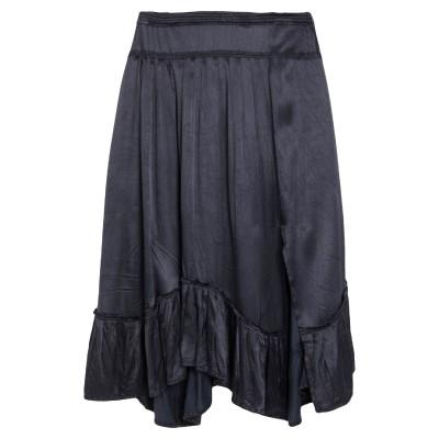 ODD MOLLY ひざ丈スカート ダークブルー 3 レーヨン 100% ひざ丈スカート