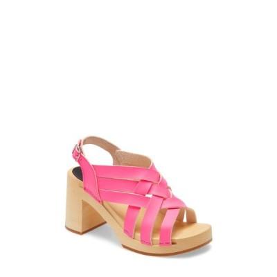 スウェディッシュハズビーンズ サンダル シューズ レディース Vivi Platform Sandal Neon Pink Leather