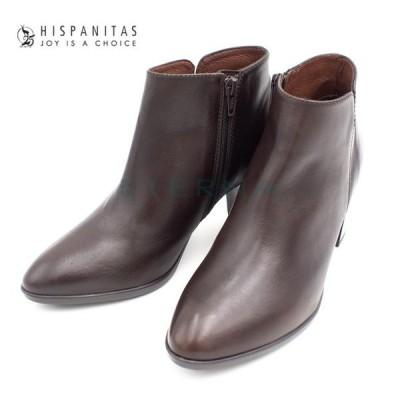 HISPANITAS ヒスパニタス 靴 ショートブーツ レディース スペイン インポート チャンキーヒール ダークブラウン hi99107