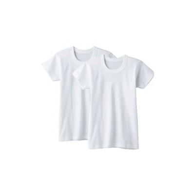 送料無料♪グンゼの半袖丸首アンダーシャツ 2枚組 100-170cm (BF6550)