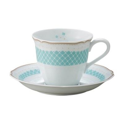ノリタケ デイジーベルシリーズ コーヒー碗皿(ブルー)