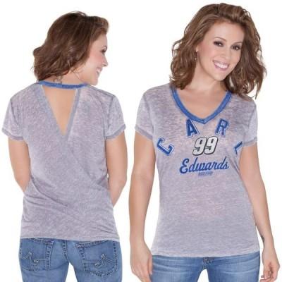 タッチ バイ アリッサ ミラノ レディース Tシャツ トップス Touch by Alyssa Milano Carl Edwards Women's Valentina V-Neck T-Shirt