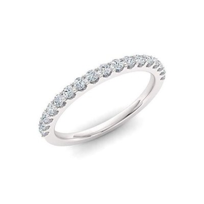 Diamondere Natural and Certified Diamond Wedding Ring in 14K White Gold | 0